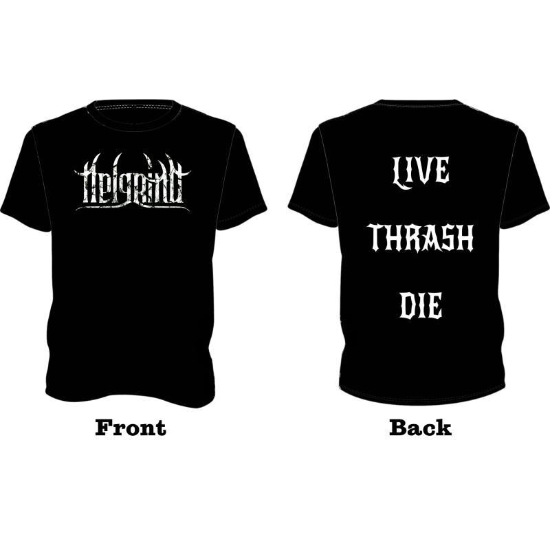 Live Thrash Die T-Shirt White Print